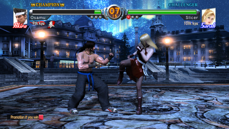"After selecting your character in ""Virtua Fighter 5,"" you'll be thrown into the ring, pitted against competitors whose sole purpose is to beat you down. Women fight women, and women fight men in this game."