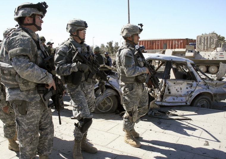 US soldiers with the 82nd Airborne Divis