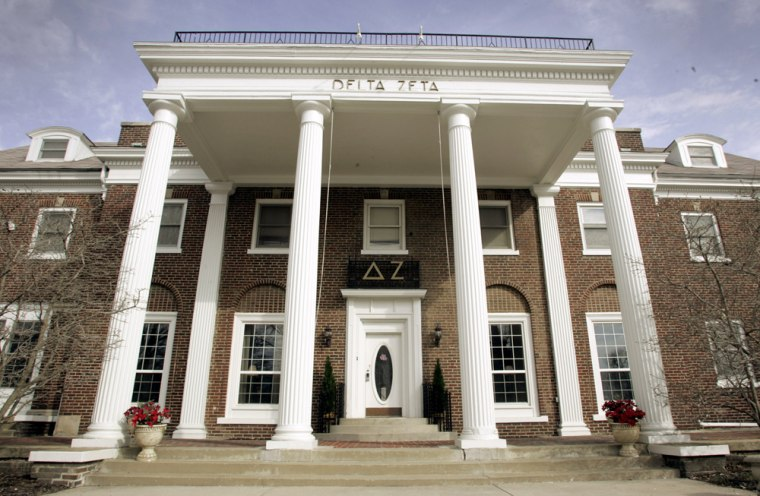 Members of the Delta Zeta sorority, near the DePauw University campus in Greencastle, Ind., recently kicked out 23 members in an incident that put the spotlight on young people's obsession with appearance.