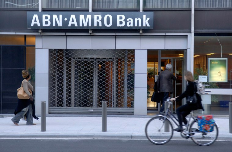 A branch of the Dutch bank ABN Amro in t