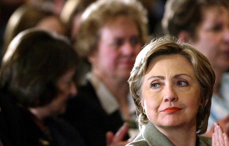 U.S. Senator and Democratic presidential hopeful Hillary Rodham Clinton speaks at a campaign stop in Nashua