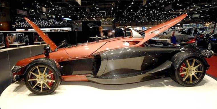 Spanishfirm A.D. Tramontana created this carbon-fiber road missile as a melding of Formula One cars and fighter planes.