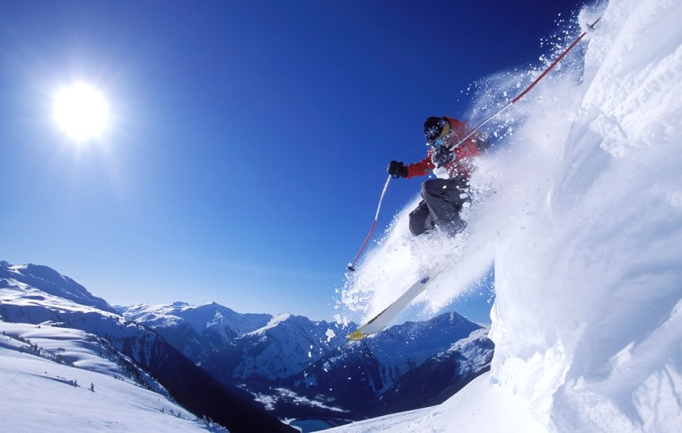 Skiing a Steep Slope