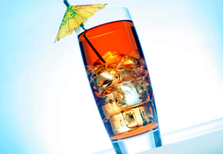 """Trying to decide between a Long Island iced tea and a refreshing beer? Keep in mind the old saying, """"Liquor before beer, never fear."""""""