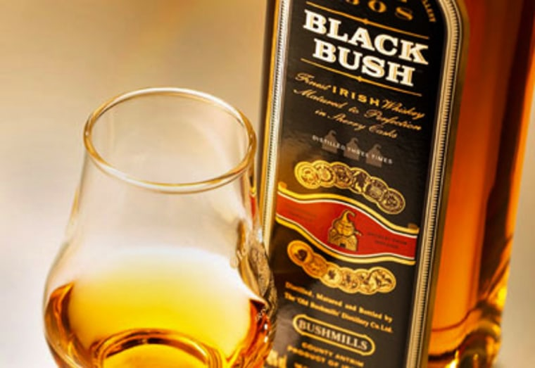 Bushmills' premium whiskey is aged for 21 years in bourbon barrels and sherry casks, then vatted, married and sent to Madeira drums for the honeymoon.