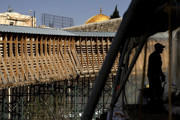 Work on the hilltop compound known to Jews as the Temple Mount and to Muslims as the Noble Sanctuary has ignited long-standing Muslim fears that Israel is plotting to undermine the foundations of the Islamic holy sites there.