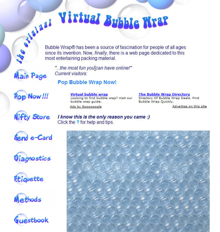 Why work when you can pop virtual bubbles on the Internet? Over and over? For hours?