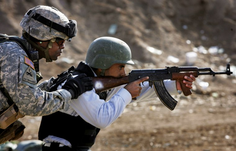 U.S. Troops Train Iraqi Police In Anbar Province