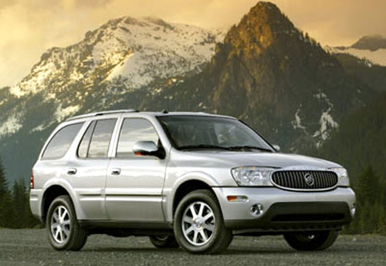 The Buick Rainier SUV sells for $32,285 — and will be worth 26 percent of that after five years.