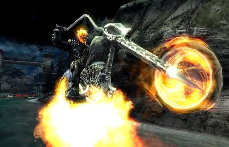 "Johnny Blaze pops a wheelie in the video game ""Ghost Rider."" Unfortunately, the game offers redeeming value for prospective players."