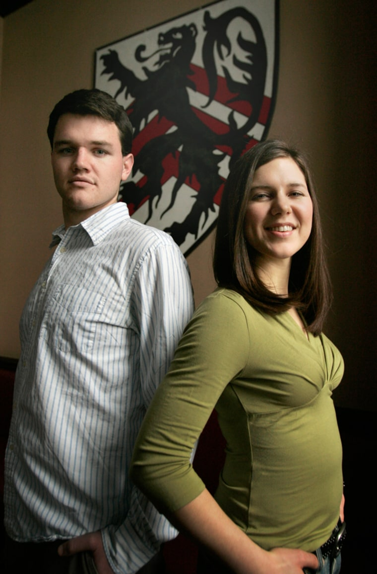 Harvard University seniors Justin Murray and Sarah Kinsella founded the Harvard student group True Love Revolution to promote abstinence on campus.