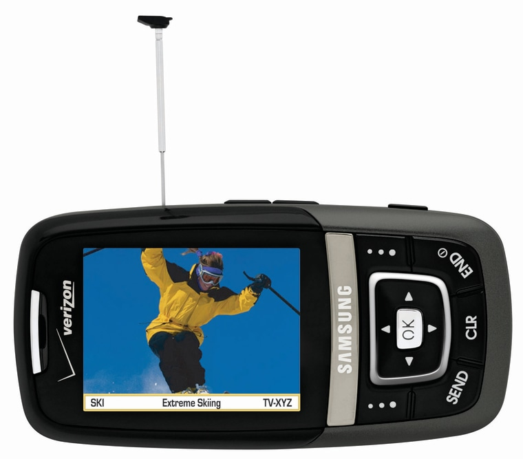 The antenna on the Samsung SCH-u620 is a dead giveaway of what this nifty phone can do: television.