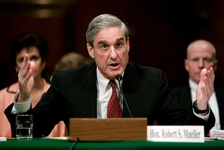 FBI Director Mueller testifies at a Senate Judiciary Committee hearing in Washington