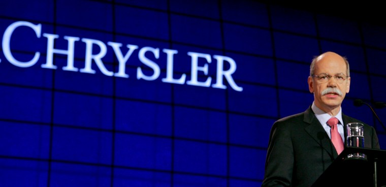 DaimlerChrysler's CEO Zetsche makes a speech during the company's annual shareholder meeting in Berlin