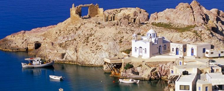 Firopotamus Fishing Village on Milos in Greece