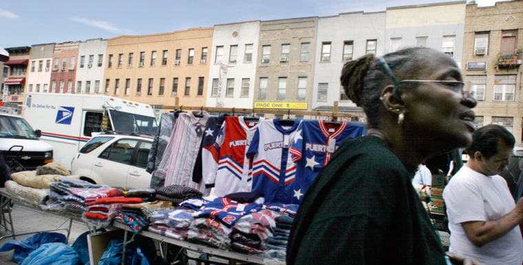 Markets like this one in Harlem, New York, which in part caters to immigrant communities, are a common sight in most American cities.