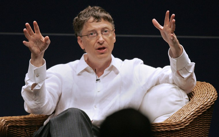 Bill Gates, chairman of Microsoft speaks