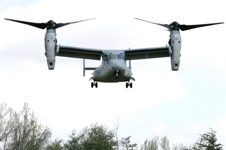A V-22 Osprey, belonging to the United S