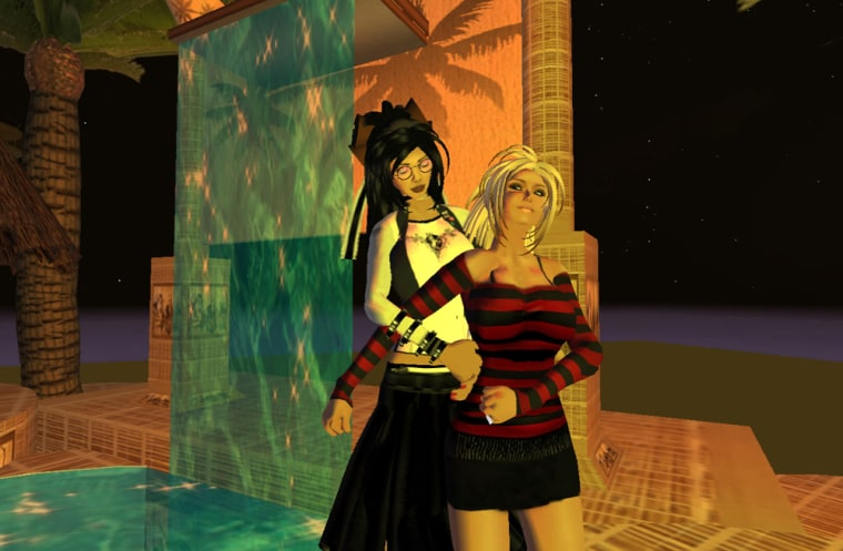 Sam's avatar, at left, had a torrid Second Life love affair with Kat, right. The problem? Both are married in real life.