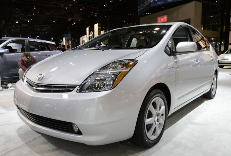 The Toyota Prius is on display at the Ne