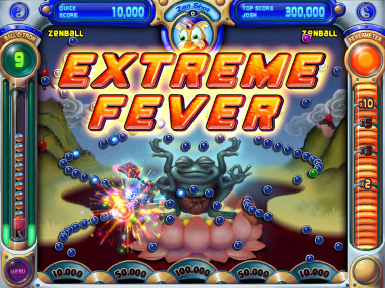When you clear a level in 'Peggle,' the game goes into Extreme Fever mode, lighting up like a Christmas tree and ready to pay off in silver dollars.