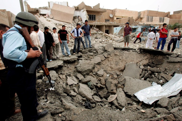 Suicide bombing in front of a police station in southern Baghdad