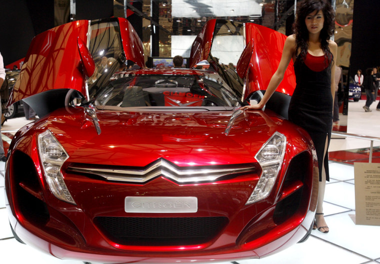 The Citroen Metisse, a diesel hybrid sports car from French automaker Citroen, shown at the 2007 Shanghai auto show, which opened Sunday.
