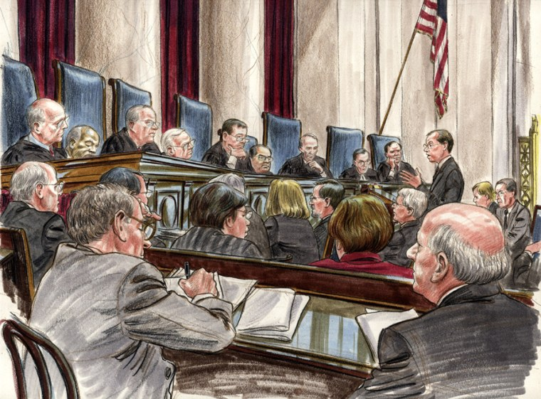 Solicitor General Paul Clement argues before the U.S. Supreme Court to uphold a key provision of the federal campaign finance law.