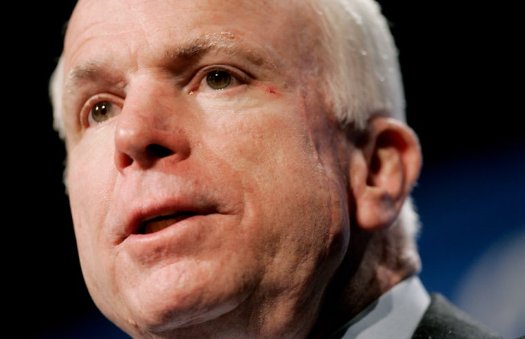 U.S. Republican Senator John McCain speaks in Washington D.C.