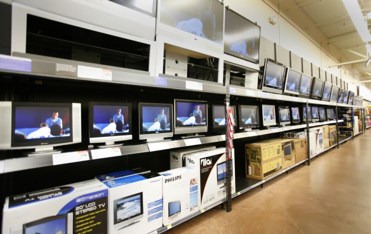 The makers of big-screen televisions vie for coveted Wal-Mart shelf space as do makers of other products. But make too high a percentage of your sales there and it could put your company's stock at risk, analysts say.