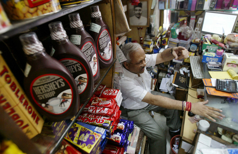 Hershey's is seeking to join its top competitors on more candy shelves in places like India and China as it makes a bid to expand its global presence.