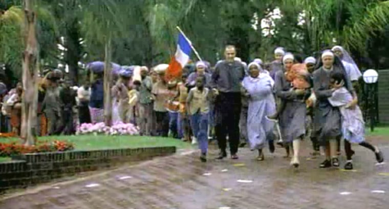 A scene from the movie, 'Hotel Rwanda'. This movie can teach everyone a thing or two about true hospitality.