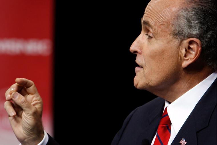 Rudy Giuliani participates in the GOP presidential debate