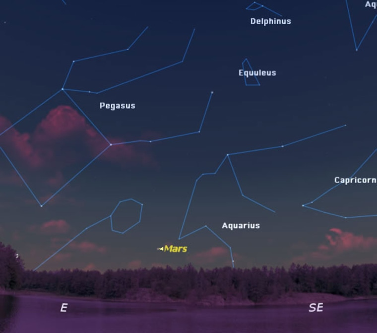 The sky as seen at 5:30 a.m. on May 4 from mid-northern latitudes.