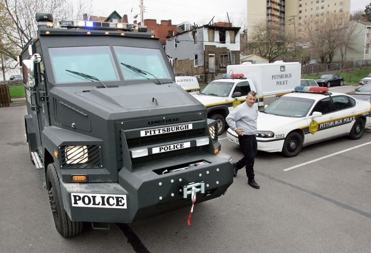 The Pittsburgh police use this armored vehicle for SWAT missions, but some who witness it in action feel it sends the wrong message in certain situations.