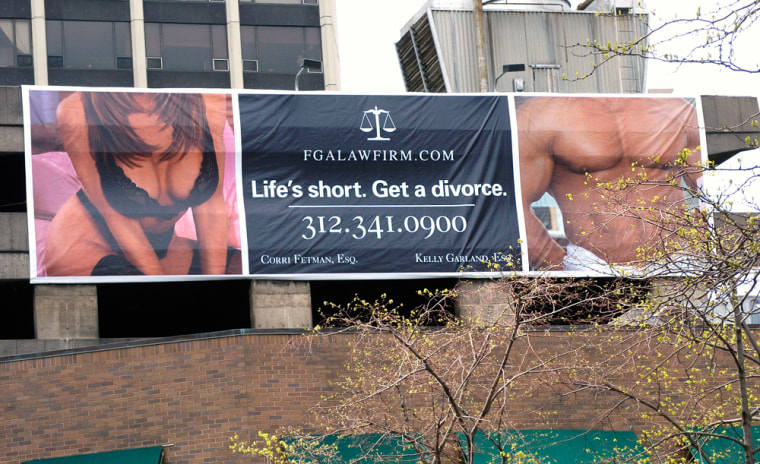 A city alderman found a technical reason to take down this billboard, but the law firm advertising on it is fighting back.