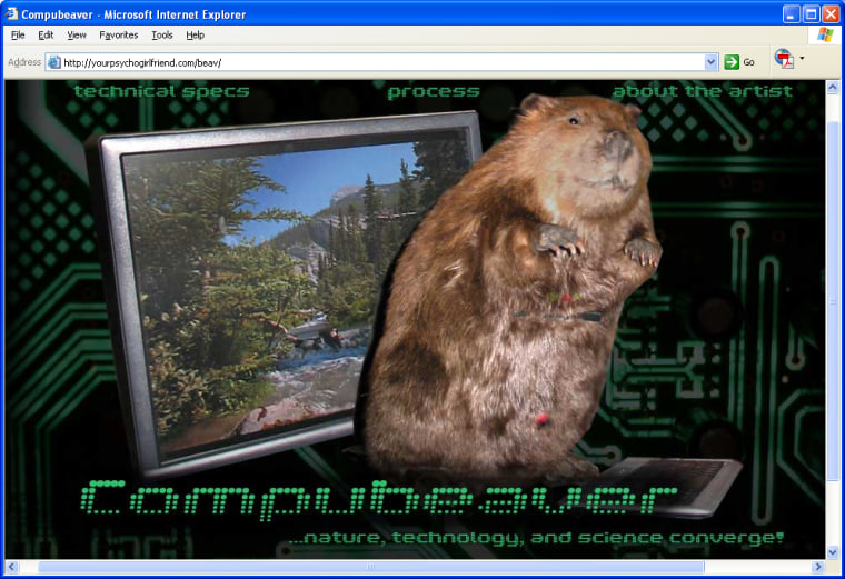 The Compubeaver puts technology in touch with nature.