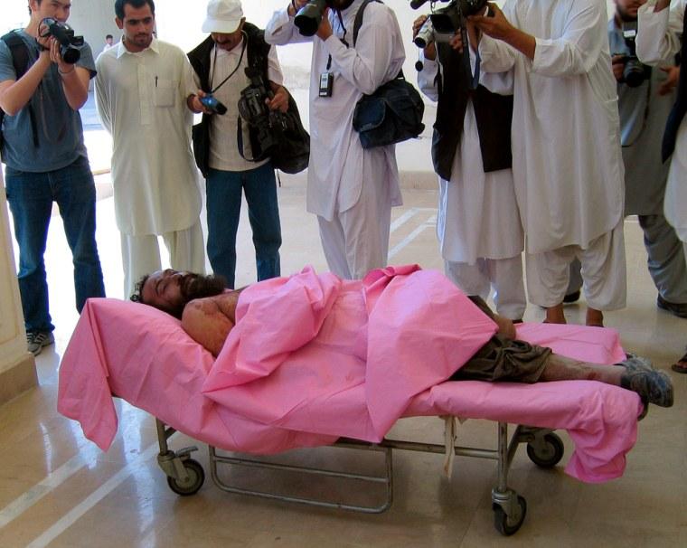 Afghanistan Mullah Dadullah body