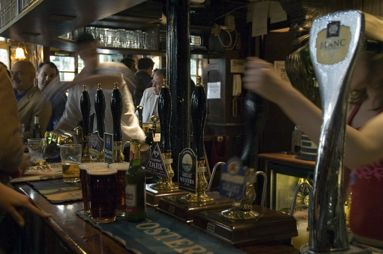 If you want to enjoy a notable microbrew in London, it pays to belly-up in a pub, such as the Market Porter Pub, well off the beaten path.