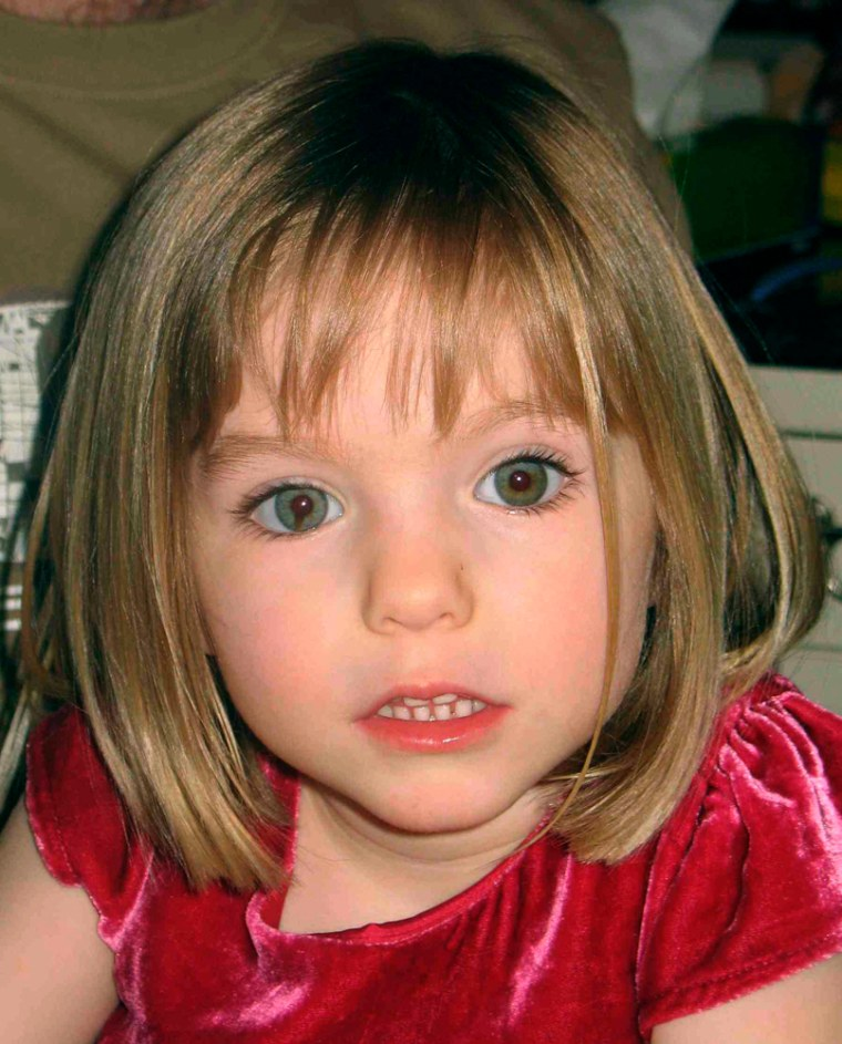 Newly released photo of missing British girl Madeleine McCann