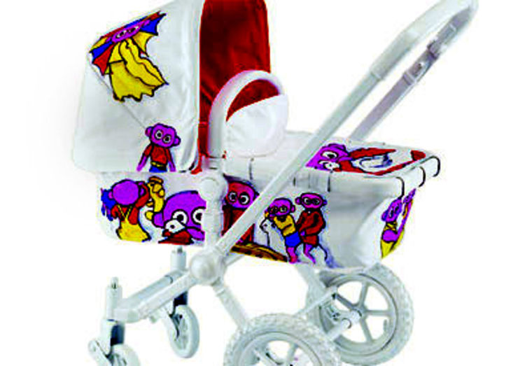 This $2,000 Bugaboo hand-stitched, white-leather stroller with a foot muff and parasol is one of many high-end items parents are shelling out for. The set is decked out in designer Bas Kostor's signature fabric, which was printed in a European couture house.