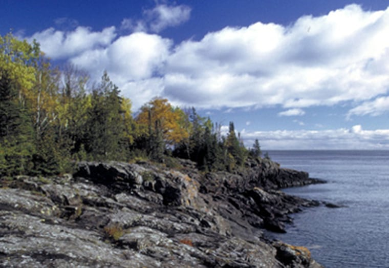 Accessible only by boat or seaplane, Isle Royale National Park in Michigancovers 850 square miles of territory including one large island, 400 smaller islands and parts of Lake Superior, the largest freshwater lake in the world.