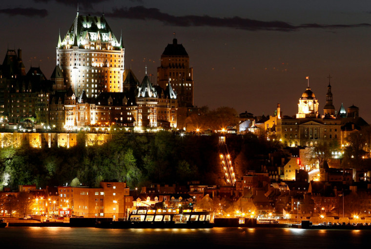 The Chateau Frontenac is seen in Quebec City