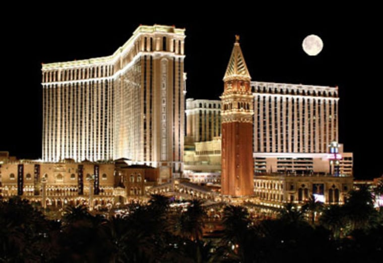 Perks at the swanky Venetian include split-level standard rooms with antique-style canopy beds and oversize marble baths, concierge-furnished suites, use of a 69,000-square-foot Canyon Ranch Spa and access to restaurants like Thomas Keller's Bouchon.