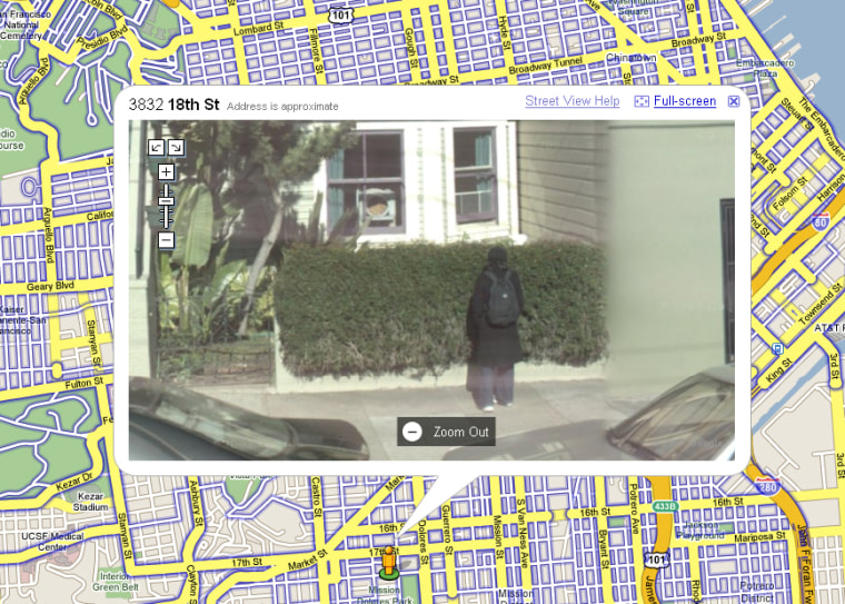 What's this San Franciscan doing in front of the bushes? Google's 'Street View' is raising ethical questions about the company's push to make the world a more transparent place.