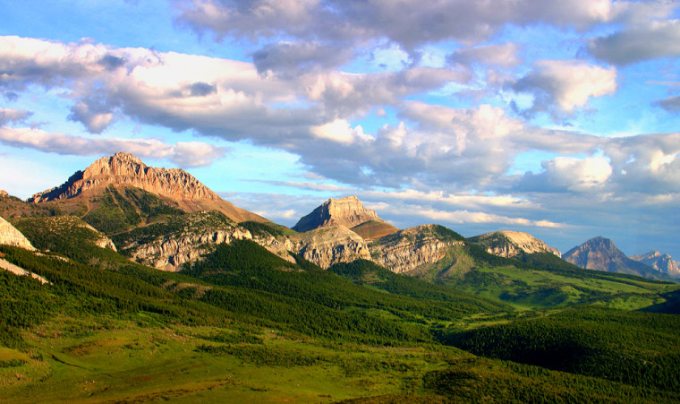 A view of the Blackleaf area of the Rocky Mountain Front south of Glacier National Park, in Montana. In July, the park will inaugurate a free shuttle service on Going-to-the-Sun Road, running every 15–30 minutes.