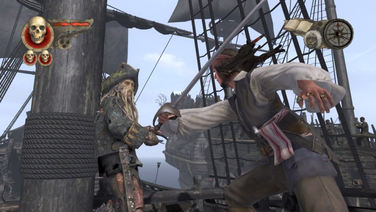 Developer Eurocom has really raised the bar for movie-game graphics with 'Pirates of the Caribbean: At World's End.' But the gameplay is too shallow to engage anybody but the youngest of buccaneers.