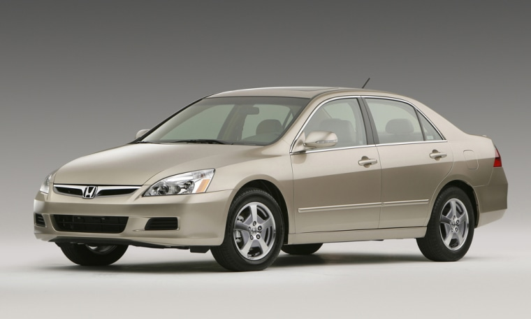 Honda said Tuesday it plans to discontinue the hybrid version of its Accord sedan, shown here.