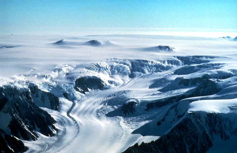 The science of climate change includes a study earlier this year that found Antarctic Peninsula glaciers like this one are melting faster into the sea.