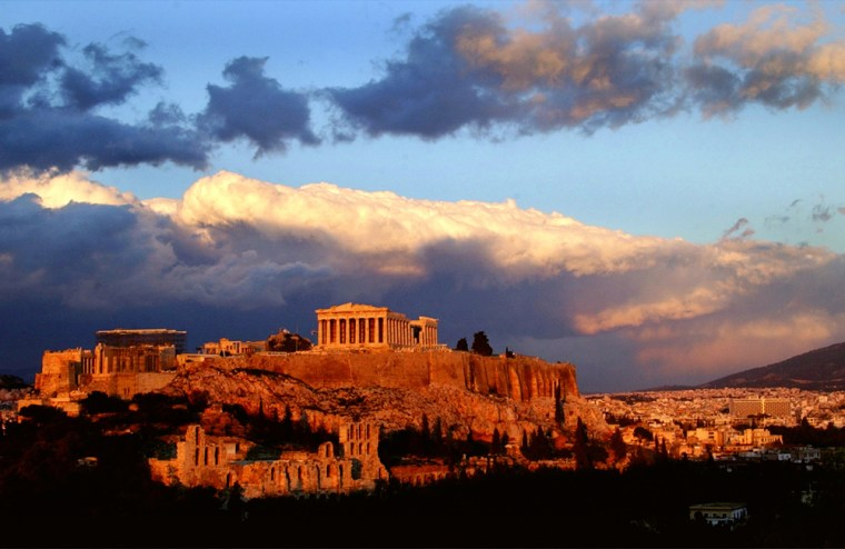 The Parthenon in Athens, Greece, is among the European structures seeing thermal stress from climate change.Less rain in southern Europe will also force authorities there to spend more money to clean monuments blackened by pollution.